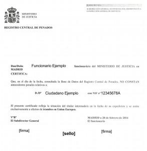 certificado penales